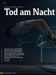 Titelbild der Ausgabe 18/2019 von GEFAHR VON WINDKRAFT FÜR UHUS: Tod am Nacht himmel?. Zeitschriften als Abo oder epaper bei United Kiosk online kaufen.