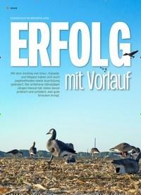 Titelbild der Ausgabe 21/2019 von GÄNSEJAGD IM BINNENLAND: ERFOLG mit Vorlauf. Zeitschriften als Abo oder epaper bei United Kiosk online kaufen.