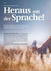 Titelbild der Ausgabe 23/2019 von KOMMUNIKATION DER FÜCHSE:Heraus mit der Sprache!. Zeitschriften als Abo oder epaper bei United Kiosk online kaufen.