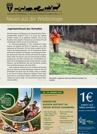 Titelbild der Ausgabe 24/2019 von Neues aus der Wildbiologie. Zeitschriften als Abo oder epaper bei United Kiosk online kaufen.