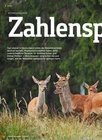Titelbild der Ausgabe 24/2019 von ROTWILDABSCHUSS: Zahlenspiele. Zeitschriften als Abo oder epaper bei United Kiosk online kaufen.