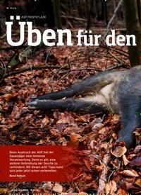 Titelbild der Ausgabe 2/2020 von WILD: ASP-PROPHYLAXE: Üben für den Notfall. Zeitschriften als Abo oder epaper bei United Kiosk online kaufen.