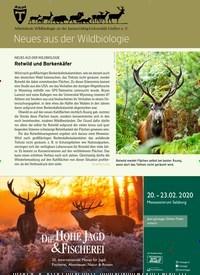Titelbild der Ausgabe 3/2020 von Neues aus der Wildbiologie. Zeitschriften als Abo oder epaper bei United Kiosk online kaufen.