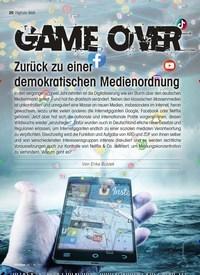 Titelbild der Ausgabe 5/2021 von GAME OVER: Zurück zu einer demokratischen Medienordnung. Zeitschriften als Abo oder epaper bei United Kiosk online kaufen.