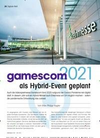 Titelbild der Ausgabe 5/2021 von Gamescom 2021 als Hybrid-Event geplant. Zeitschriften als Abo oder epaper bei United Kiosk online kaufen.