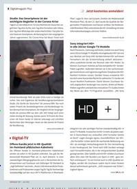 Titelbild der Ausgabe 6/2021 von Digital-TV. Zeitschriften als Abo oder epaper bei United Kiosk online kaufen.