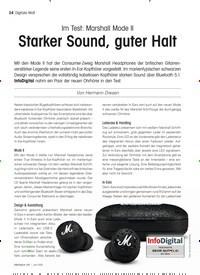 Titelbild der Ausgabe 6/2021 von Im Test: Marshall Mode II: Starker Sound, guter Halt. Zeitschriften als Abo oder epaper bei United Kiosk online kaufen.