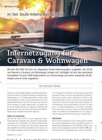 Titelbild der Ausgabe 6/2021 von Im Test: Router-Antenne Xoro MLT-400: Internetzugang für Caravan & Wohnwagen. Zeitschriften als Abo oder epaper bei United Kiosk online kaufen.