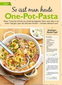 Titelbild der Ausgabe 3/2019 von Aktuell: So isst man heute One-Pot-Pasta. Zeitschriften als Abo oder epaper bei United Kiosk online kaufen.