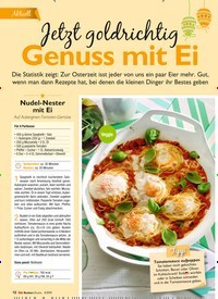 Titelbild der Ausgabe 4/2019 von Aktuell: Jetzt goldrichtigGenuss mit Ei. Zeitschriften als Abo oder epaper bei United Kiosk online kaufen.
