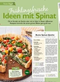 Titelbild der Ausgabe 5/2019 von Frühlingsfrische: Ideen mit Spinat. Zeitschriften als Abo oder epaper bei United Kiosk online kaufen.