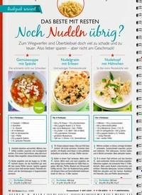 Titelbild der Ausgabe 6/2019 von DAS BESTE MIT RESTEN: Noch Nudeln übrig?. Zeitschriften als Abo oder epaper bei United Kiosk online kaufen.