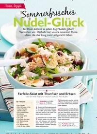 Titelbild der Ausgabe 7/2019 von Sommerfrisches: Nudel-Glück. Zeitschriften als Abo oder epaper bei United Kiosk online kaufen.