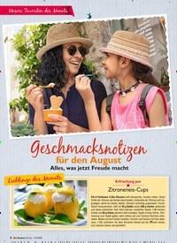 Titelbild der Ausgabe 8/2019 von Geschmacksnotizen für den August: Alles, was jetzt Freude macht. Zeitschriften als Abo oder epaper bei United Kiosk online kaufen.