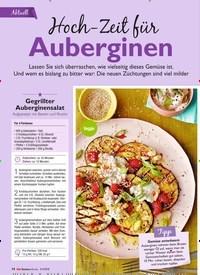 Titelbild der Ausgabe 8/2019 von Aktuell: Hoch-Zeit für Auberginen. Zeitschriften als Abo oder epaper bei United Kiosk online kaufen.