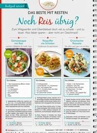 Titelbild der Ausgabe 8/2019 von DAS BESTE MIT RESTEN: Noch Reis übrig?. Zeitschriften als Abo oder epaper bei United Kiosk online kaufen.