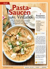 Titelbild der Ausgabe 9/2020 von Pasta-Saucen zum Verlieben. Zeitschriften als Abo oder epaper bei United Kiosk online kaufen.