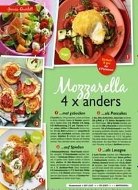 Titelbild der Ausgabe 9/2020 von Mozzarella 4 x anders. Zeitschriften als Abo oder epaper bei United Kiosk online kaufen.