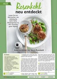 Titelbild der Ausgabe 12/2020 von Aktuell: Rosenkohl neu entdeckt. Zeitschriften als Abo oder epaper bei United Kiosk online kaufen.