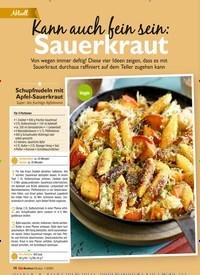 Titelbild der Ausgabe 2/2021 von Aktuell: Kann auch fein sein: Sauerkraut. Zeitschriften als Abo oder epaper bei United Kiosk online kaufen.