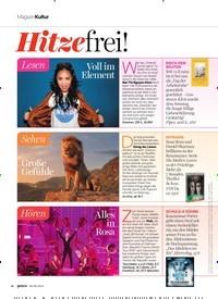 Titelbild der Ausgabe 9/2019 von Kultur: Hitze frei!. Zeitschriften als Abo oder epaper bei United Kiosk online kaufen.