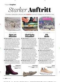 Titelbild der Ausgabe 10/2019 von MagazinAusgehen: Starker Auftritt. Zeitschriften als Abo oder epaper bei United Kiosk online kaufen.