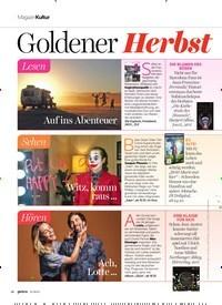 Titelbild der Ausgabe 11/2019 von MagazinKultur: Goldener Herbst. Zeitschriften als Abo oder epaper bei United Kiosk online kaufen.