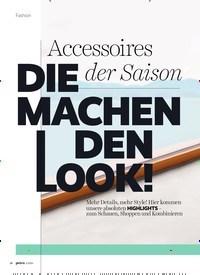 Titelbild der Ausgabe 5/2020 von Accessoires der Saison DIE MACHEN DEN LOOK!. Zeitschriften als Abo oder epaper bei United Kiosk online kaufen.