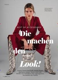 Titelbild der Ausgabe 11/2020 von BEST OF ACCESSOIRES: Die machen den Look!. Zeitschriften als Abo oder epaper bei United Kiosk online kaufen.
