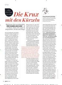 Titelbild der Ausgabe 3/2021 von Die Krux mit den Kürzeln. Zeitschriften als Abo oder epaper bei United Kiosk online kaufen.