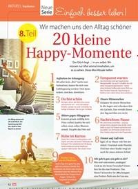 Titelbild der Ausgabe 21/2018 von Topthema: Neue Serie: Einfach besser leben! Wir machen uns den Alltag schöner: 20 kleine Happy-Momente. Zeitschriften als Abo oder epaper bei United Kiosk online kaufen.