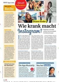 Titelbild der Ausgabe 22/2018 von News Tipps & Infos: Ihr gutes: Recht. Zeitschriften als Abo oder epaper bei United Kiosk online kaufen.