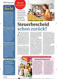 Titelbild der Ausgabe 24/2018 von informiert: Prüfen lohnt sich! Steuerbescheid schon zurück?. Zeitschriften als Abo oder epaper bei United Kiosk online kaufen.