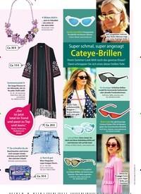 Titelbild der Ausgabe 26/2018 von Super schmal, super angesagt: Cateye-Brillen. Zeitschriften als Abo oder epaper bei United Kiosk online kaufen.