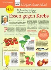 Titelbild der Ausgabe 27/2018 von Topthema: Große Serie: Einfach besser leben!: 14. Teil: Essen gegen Krebs. Zeitschriften als Abo oder epaper bei United Kiosk online kaufen.