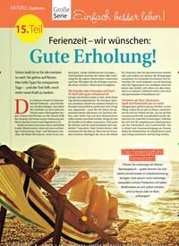 Titelbild der Ausgabe 28/2018 von Topthema: Große Serie: Einfach besser leben!: Ferienzeit – wir wünschen: Gute Erholung!. Zeitschriften als Abo oder epaper bei United Kiosk online kaufen.