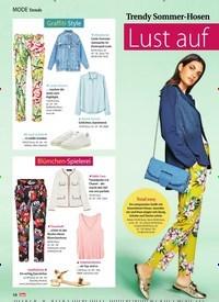 Titelbild der Ausgabe 29/2018 von Trends: Trendy Sommer-Hosen und wie man sie jetzt stylt: Lust auf Muster!. Zeitschriften als Abo oder epaper bei United Kiosk online kaufen.