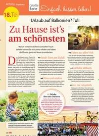Titelbild der Ausgabe 31/2018 von Topthema: Große Serie: Einfach besser leben! 18. Teil: Urlaub auf Balkonien? Toll! Zu Hause ist's am schönsten. Zeitschriften als Abo oder epaper bei United Kiosk online kaufen.