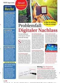 Titelbild der Ausgabe 31/2018 von Problemfall: Digitaler Nachlass. Zeitschriften als Abo oder epaper bei United Kiosk online kaufen.