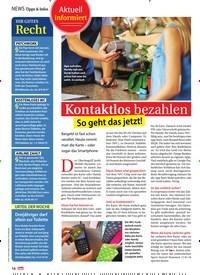 Titelbild der Ausgabe 33/2018 von Aktuell informiert: Kontaktlos bezahlen: So geht das jetzt!. Zeitschriften als Abo oder epaper bei United Kiosk online kaufen.