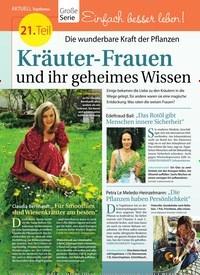 Titelbild der Ausgabe 34/2018 von Topthema: 21. Teil: Die wunderbare Kraft der Pflanzen: Kräuter-Frauen und ihr geheimes Wissen. Zeitschriften als Abo oder epaper bei United Kiosk online kaufen.
