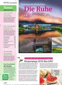 Titelbild der Ausgabe 35/2018 von Im Gespräch: News Kurz & Knapp. Zeitschriften als Abo oder epaper bei United Kiosk online kaufen.