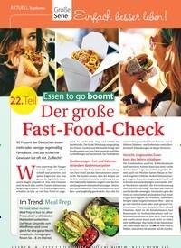 Titelbild der Ausgabe 35/2018 von Topthema: Große Serie: Essen to go boomt: Der große Fast-Food-Check. Zeitschriften als Abo oder epaper bei United Kiosk online kaufen.