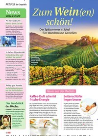 Titelbild der Ausgabe 36/2018 von Zum Wein(en) schön!. Zeitschriften als Abo oder epaper bei United Kiosk online kaufen.