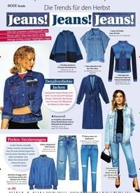 Titelbild der Ausgabe 38/2018 von Trends: Die Trends für den Herbst: Jeans! Jeans! Jeans!. Zeitschriften als Abo oder epaper bei United Kiosk online kaufen.