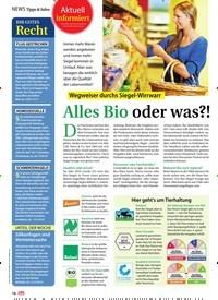 Titelbild der Ausgabe 38/2018 von Aktuell informiert: Wegweiser durchs Siegel-Wirrwarr: Alles Bio oder was?!. Zeitschriften als Abo oder epaper bei United Kiosk online kaufen.