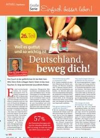 Titelbild der Ausgabe 39/2018 von AKTUELL Topthema: Große Serie: Weil es guttut und so wichtig ist: Deutschland, beweg dich!. Zeitschriften als Abo oder epaper bei United Kiosk online kaufen.