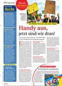 Titelbild der Ausgabe 39/2018 von Aktuell informiert: Der Medien-Konsum und seine Folgen: Handy aus, jetzt sind wir dran!. Zeitschriften als Abo oder epaper bei United Kiosk online kaufen.