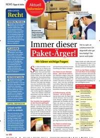 Titelbild der Ausgabe 47/2018 von Immer dieser: Paket-Ärger!: Wir klären wichtige Fragen. Zeitschriften als Abo oder epaper bei United Kiosk online kaufen.