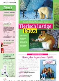 Titelbild der Ausgabe 49/2018 von Im Gespräch: Tierisch lustige Fotos. Zeitschriften als Abo oder epaper bei United Kiosk online kaufen.